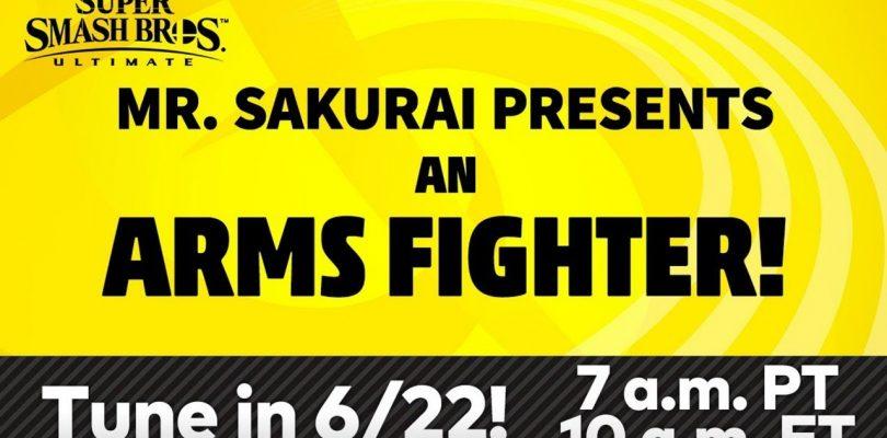 Nintendo presentó al nuevo personaje de Arms para Smash Ultimate.