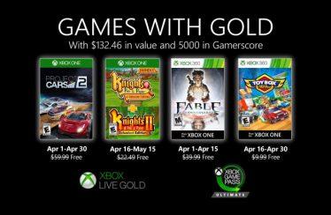 Microsoft presenta los Games with Gold de abril