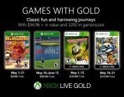 Anunciados los Games with Gold de mayo.