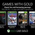 Anunciados los Games with Gold para julio.
