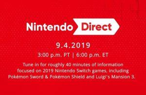 Variados anuncios en la Nintendo Direct del 4/9/19.