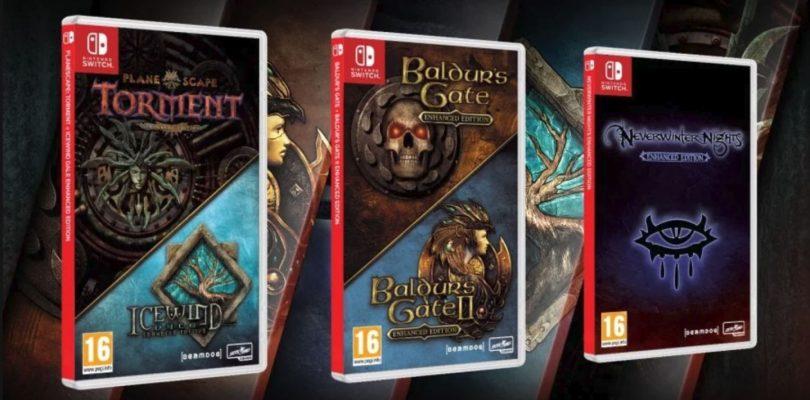 Cinco RPGs consagrados de Dungeons & Dragons llegarán pronto a la Switch.