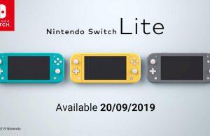 Nintendo anuncia la Switch Lite.