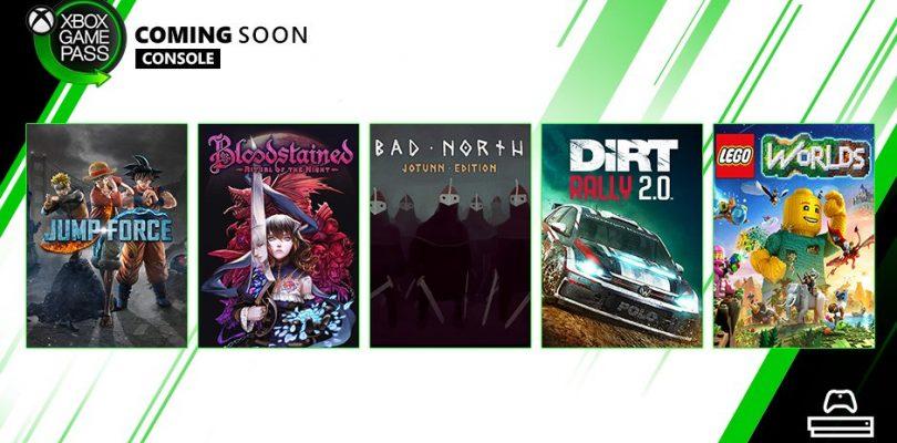 Xbox Game Pass anuncia nueva adiciones a su catalogo.