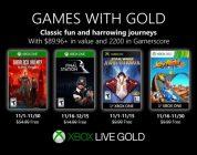 Anunciados los Games with Gold de noviembre