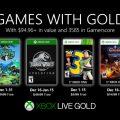 Anunciados los Games with Gold de diciembre.