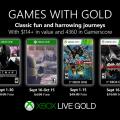 Anunciados los Games with Gold de septiembre.