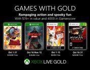 Anunciados los Games with Gold de octubre.