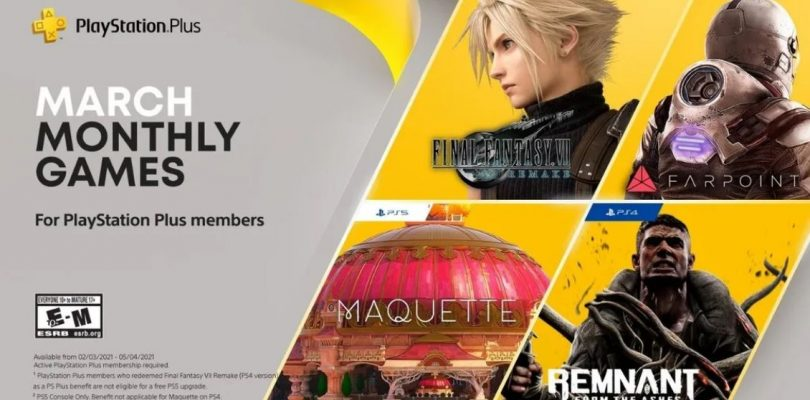 Anunciados los juegos para Playstation Plus de marzo.