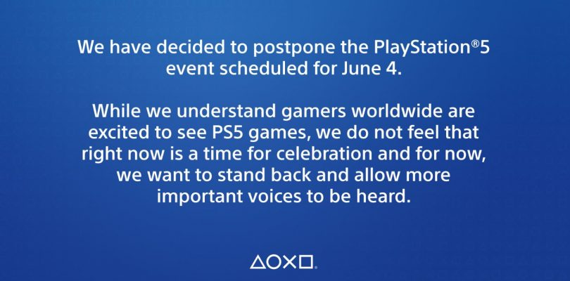 Playstation pospuso su evento dedicado de Playstation 5.