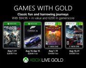 Anunciados los Games with Gold de agosto.