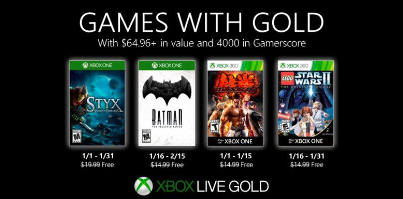 Anunciados los Games with Gold para Enero.